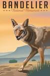 Bandelier National Monument, New Mexico - Coyote - Litho - Lantern Press Artwork