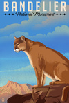 Bandelier National Monument, New Mexico - Mountain Lion - Litho - Lantern Press Artwork