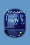 Congaree National Park, South Carolina - Fireflies - Contour - Lantern Press Artwork