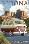 Sedona, Arizona - Camper Van - Lantern Press Artwork