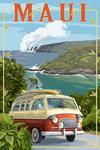 Maui, Hawaii - Camper Van - Lantern Press Artwork