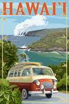 Hawaii - Camper Van - Lantern Press Artwork