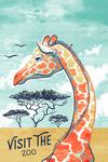 Visit the Zoo - Graphic Pastel - Giraffe - Lantern Press Artwork