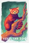 Visit the Zoo - Red Panda - Vivid - Lantern Press Artwork