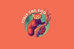 Visit the Zoo - Red Panda - Vivid - Contour - Lantern Press Artwork