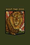 Visit the Zoo - Lion - Mosaic - Contour - Lantern Press Artwork