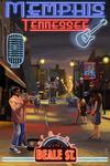 Memphis, Tennessee - Memphis at Night - Beale Street - Lantern Press Artwork