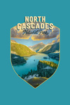 North Cascades National Park, Washington - Contour - Oil Painting National Park Series - Lantern Press Artwork