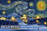 Breckenridge, Colorado - Starry Night - Ski Resort with Mountain