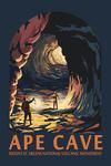 Mount St. Helens, Washington - Ape Cave - Contour - Lantern Press Artwork