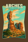 Arches National Park, Utah - Oil Painting National Park Series