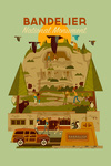 Bandelier National Monument, New Mexico - Geometric - Contour - Lantern Press Artwork