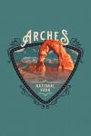Arches National Park, UT - Painterly National Park Series - Contour