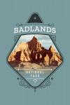 Badlands National Park, South Dakota - Painterly National Park Series - Contour