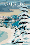 Crater Lake National Park, Oregon - Winter - Painterly National Park Series