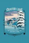 115726 - Crater Lake National Park, Oregon - Painterly National Park Series - Contour