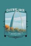 115740 - Gateway Arch National Park, Missouri - Painterly National Park Series - Contour