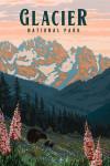 Glacier National Park, Montana - Painterly National Park Series - Lantern Press Artwork