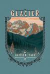 115742 - Glacier National Park, Montana - Painterly National Park Series - Contour