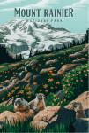 Mount Rainier National Park, Washington - Painterly National Park Series