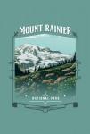 Mount Rainier National Park, Washington - Painterly National Park Series - Contour