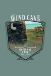 Wind Cave National Park, South Dakota - Bison - Painterly National Park Series - Contour