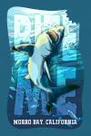 Morro Bay, California - Great White Shark - Bite Me - Contour - Lantern Press Artwork