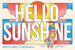 Morro Bay, California - 70s Sunshine Collection - Hello Sunshine - Lantern Press Artwork