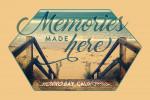 Morro Bay, California - Memories Made Here - Sentiment - Contour - Lantern Press Artwork