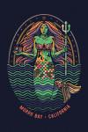 Morro Bay, California - Distressed Vector - Mermaid - Lantern Press Artwork