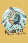 Morro Bay, California - Graphic Pastel - Sea Turtle - Contour - Lantern Press Artwork