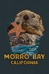 Morro Bay, California - Sea Otter Mosaic - Contour - Lantern Press Artwork