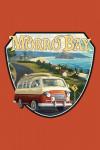 Morro Bay, California - Camper Van - Contour - Lantern Press Artwork