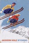 Jackson, Hole, Wyoming - Vintage Skiers - Lantern Press Poster