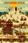 Jackson, Hole, Wyoming - Ski Resort - Geometric - Lantern Press Artwork