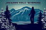Jackson, Hole, Wyoming - Skier & Mountain - Vector Silhouette - Lantern Press Artwork