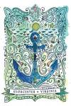 Gloucester, Virginia - Anchor - Contour - Lantern Press Artwork