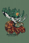 Breckenridge, Colorado - Ski Moose - Lantern Press Art