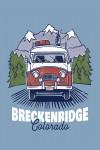 Breckenridge, Colorado - LP Camper & Mountains - Lantern Press Artwork