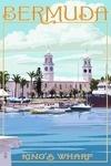 Bermuda - King's Wharf - Lantern Press Artwork