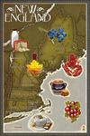 Foods of New England Map - Lantern Press Artwork