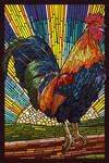 Rooster - Paper Mosaic - Lantern Press Artwork