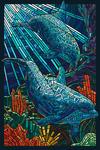 Dolphin - Paper Mosaic - Lantern Press Poster