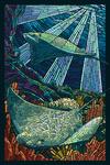 Rays - Paper Mosaic - Lantern Press Poster