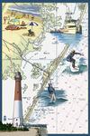 Long Beach Island, New Jersey - Nautical Chart - Lantern Press Poster