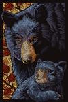 Bear - Paper Mosaic - Lantern Press Poster