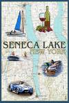 Seneca Lake, New York - Nautical Chart - Lantern Press Artwork