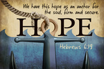 Hebrews 6:19 - Inspirational - Lantern Press Artwork