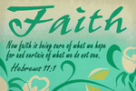 Hebrews 11:1  - Inspirational - Lantern Press Artwork