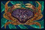 Dungeness Crab - Paper Mosaic - Lantern Press Poster